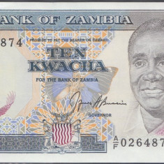 Zambia 10 Kwacha 1989 UNC