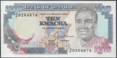 Zambia 10 Kwacha 1989 UNC foto