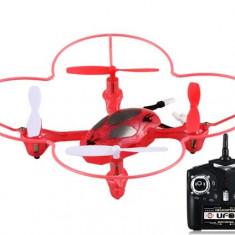 MINI DRONA R/C PROFESIONALA CU 6 CANALE SI TEHNOLOGIE 2, 4GHZ, ROTATIE 360 GRADE, ACUMULATOR INCLUS.