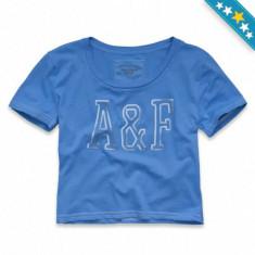 Tricou ABERCROMBIE FITCH Angie - Tricouri Dama, Femei - 100% AUTENTIC - Tricou dama, Marime: S, Culoare: Albastru, Maneca scurta, Casual, Bumbac