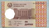 1368 BANCNOTA  - TADJIKISTAN - 1 DIRAM - anul 1999 -SERIA 8281080-starea care se vede