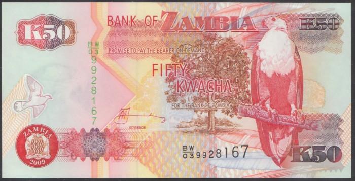 Zambia 50 Kwacha 2009 UNC