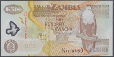 Zambia 500 Kwacha 2008 UNC foto