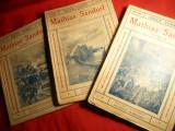 Joules Verne -Mathias Sandorf (3 vol.), Ed. Cugetarea ,interbelica