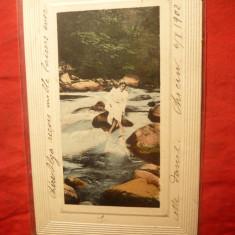 Felicitare -Carte Postala, francata cu 10 bani Spic de grau, clasica, circ. Braila -Anvers (Belgia)