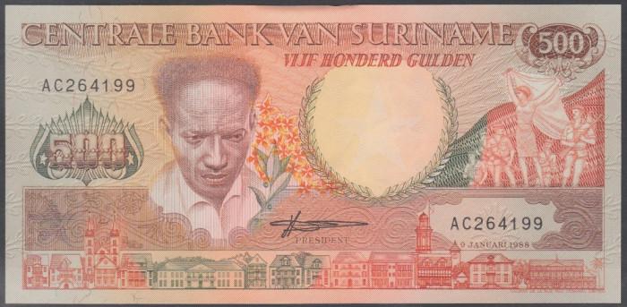 Suriname 500 gulden 1988 UNC
