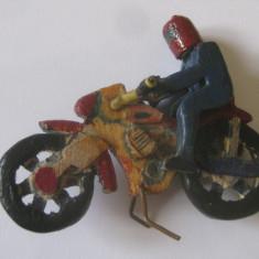 MINIATURA LEMN MOTOCICLETA DIN ANII 60