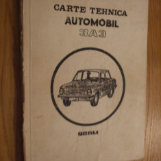 CARTEA TEHNICA * AUTOMOBIL 3A3 - 968M --  tip 1992 --  106 pag. litografiate