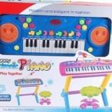 Orga cu scaunel si microfon - Instrumente muzicale copii
