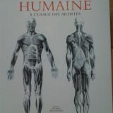 ANATOMIE ARTISTICA ( lb. franceza) ANATOMIE HUMAINE A L'USAGE DES ARTISTES de GYORGY FEHER, Alta editura
