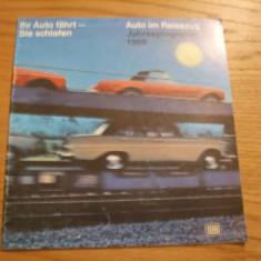 AUTO IM REISEZUG * Jahresprogramm 1969 *  Ihr Auto Fahrt - Sie Schlafen - pliant