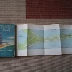 CONSTANTA litoral harti carte ilustrata hobby ghid calatorie tursim 1962 RPR