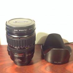 Obiectiv Canon EF 28-135 F/3.5-5.6 USM IS plus filtru uv si parasolar stare foarte buna - Obiectiv DSLR Canon, Canon - EF/EF-S