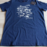 Tricou Paul & Shark - Tricou barbati, Marime: L, Culoare: Bleumarin, Maneca scurta, Bumbac