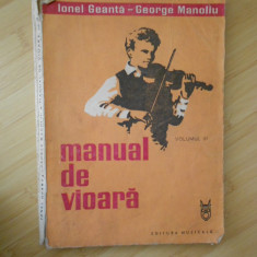 IONEL GEANTA--MANUAL DE VIOARA VOL. III