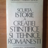 N5 I.M.Stefan-Scurta istorie a creatiei stiintifice si tehnice romanesti