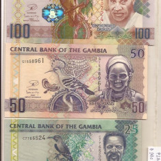 Complet avec 3 banknote Gambia - condition UNC