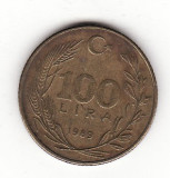 Turcia 100 lire 1989, Europa
