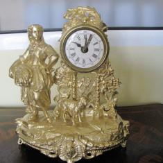 CEAS SEMINEU VECHI ANTIMONIU SONERIE PRODUCTIE FRANTA CCA 1850 functional - Ceas de semineu