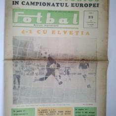 Revista FOTBAL - joi 3 noiembrie 1966 Nr. 23