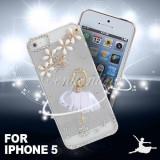Husa plastic iphone 5 + folie protectie ecran, iPhone 5/5S/SE, Apple