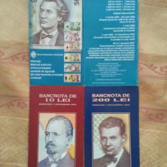 Pliante Leii noi (10, 200 și 500), 50 roni / lotul, taxele poștale gratuite