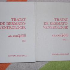 AL. COLTOIU--TRATAT DE DERMATO-VENEROLOGIE 2 VOL. - Carte Dermatologie si venerologie