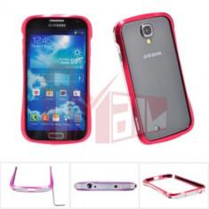 Husa bumper aluminiu Scirocco Samsung Galaxy S4 i9500 + folie ecran - Bumper Telefon, Rosu