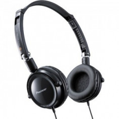 Casti audio Pioneer Negre noi in cutie, Casti Over Ear, Cu fir, Mufa 3, 5mm