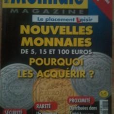Revista Monnaie Magazine, full color, bancnote de la primele aparute, 50 roni, taxele postale gratuite