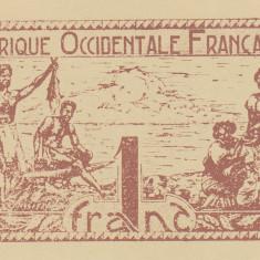 Bancnota Africa Occidentala Franceza 1 Franc (1942) - P34b UNC