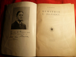 N.Petrascu - Dl.Ollanescu ( Ascanio) - Prima Ed. 1926 ,Ed.Cultura Nationala