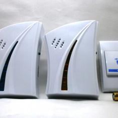 Sonerie fara fir wireless cu doua module si un buton