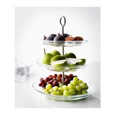 Platou etajat de prezentare - fructiera cu 3 etaje - utila si eleganta - Nou - Tava servire