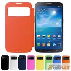 Husa flip S View Samsung Galaxy Mega i9205 - Husa Telefon Samsung, Portocaliu