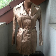 SENZATIONAL TRENCH METALIZAT MICHAEL KORS ORIGINAL TALIA M - Trench dama, Marime: M, Culoare: Din imagine