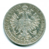 AUSTRIA 1 FLORIN 1859 A VF+++ ARGINT
