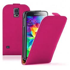 Husa Flip Case Slim Inchidere Magnetica Samsung Galaxy S5 i9600 Pink - Husa Telefon