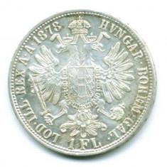 AUSTRIA 1 FLORIN 1878   XF-AUNC ARGINT