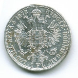 1 FLORIN 1873 XF AGATAT ARGINT AUSTRIA RAR