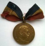 Medalie - M. S. Regele Carol II al Romaniei - Sase ani de munca - Pentru Flota Nationala Aeriana - ARPA - 1927-1933