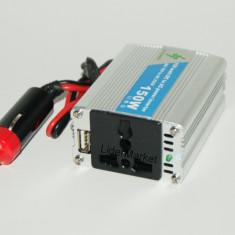 Invertor auto 150W - USB - GARANTIE 12 LUNI