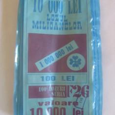 RAR! BILET PUNGA 100 BUCATI LOZUL MILIOANELOR ANII 90 - Bilet Loterie Numismatica