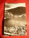 Ilustrata - Barajul Negovanu jud. Sibiu si Lacul de Acumulare Sadu V , anii '60