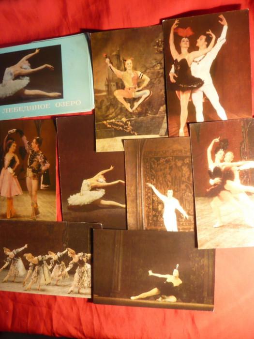 Carnet cu 12 Ilustrate - Balet -Lacul Lebedelor -Teatrul Balsoi ,tiraj 40 000 ex