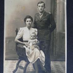 CP - Poza - Militari / Razboi - Soldat cu sotia - Fotografie veche