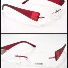 Rame titan Silhouette 7599 6054 autentica rosu- visiniu - Rama ochelari Silhouette