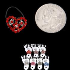 Inel cu Inimioara si Pietricele Decorative pentru Picior - Inel fashion