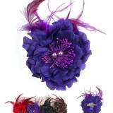 Floare  Pentru Prins Parul cu Perle si Pene