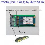 Adaptor convertor mSATA - microSATA PCI-E Express SSD mini SATA la micro SATA